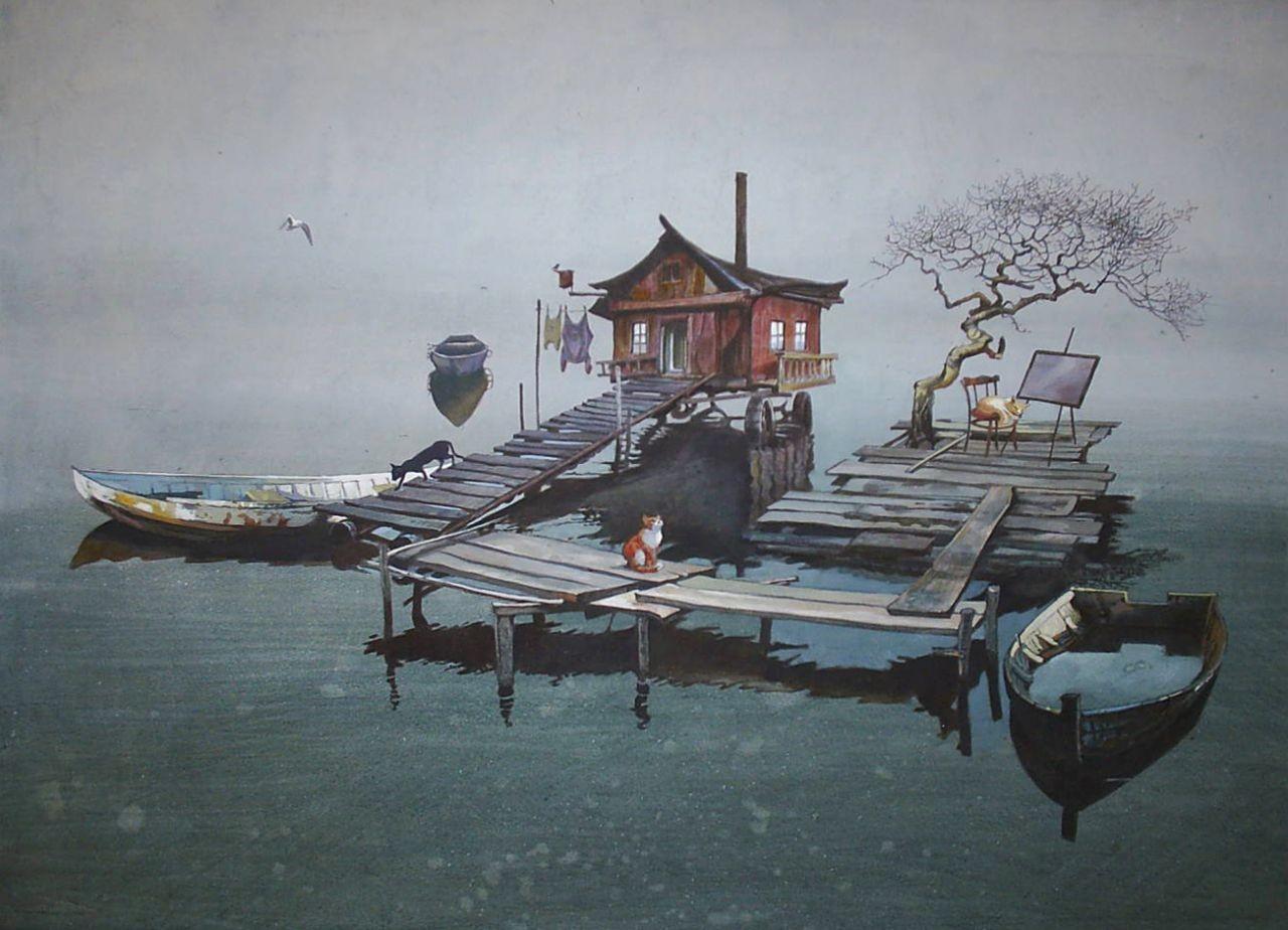 картина художника Анны Байбаковой http://studuo-molino.ru